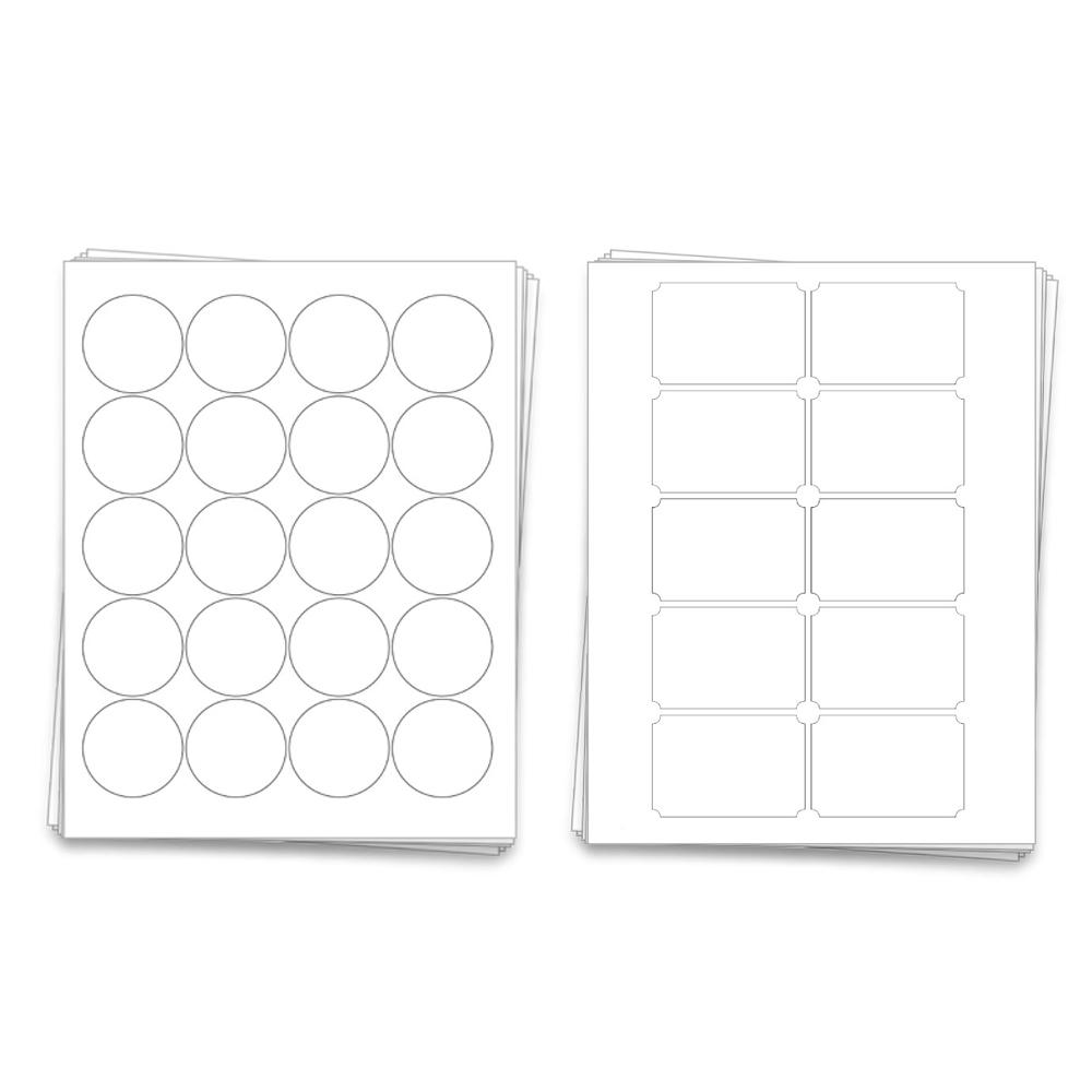 Mason Jar Labels   2 in round / 3 x 2 in.