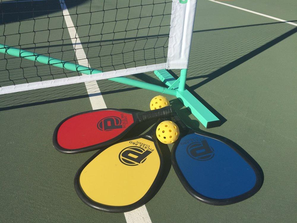 IMG_1462, net, shadow, 3 paddles, balls, upright.JPG