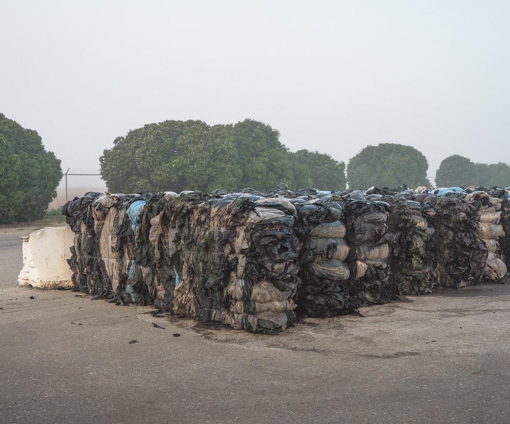 Baled Plastic, Santa Maria Landfill, CA. 2015