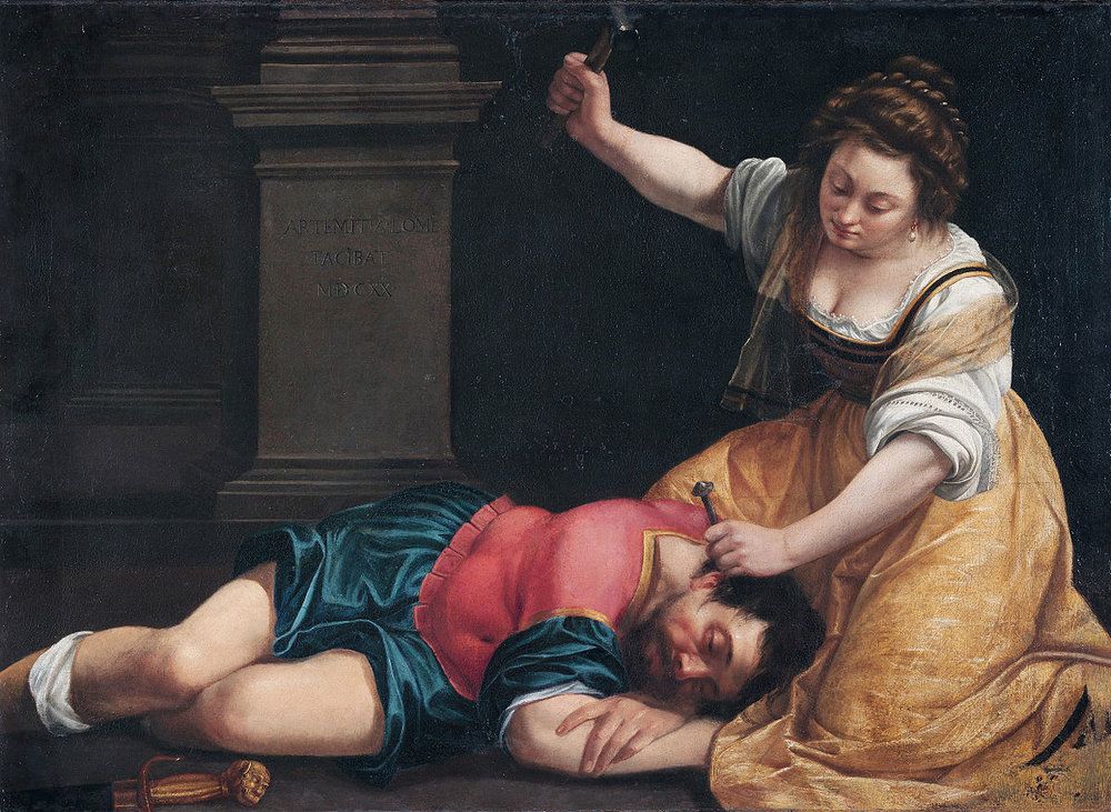 Jael and Sisera - Artemisia Gentileschi, 1620, oil on canvas