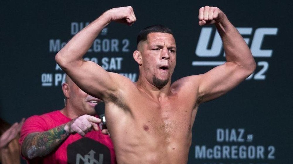 "Nate Diaz - ""I like to promote the vegan industry. I hear a lot of criticism from people saying you need meat to be strong and for recovery, and it's a bunch of bullsh*t, because I train harder than everybody."""