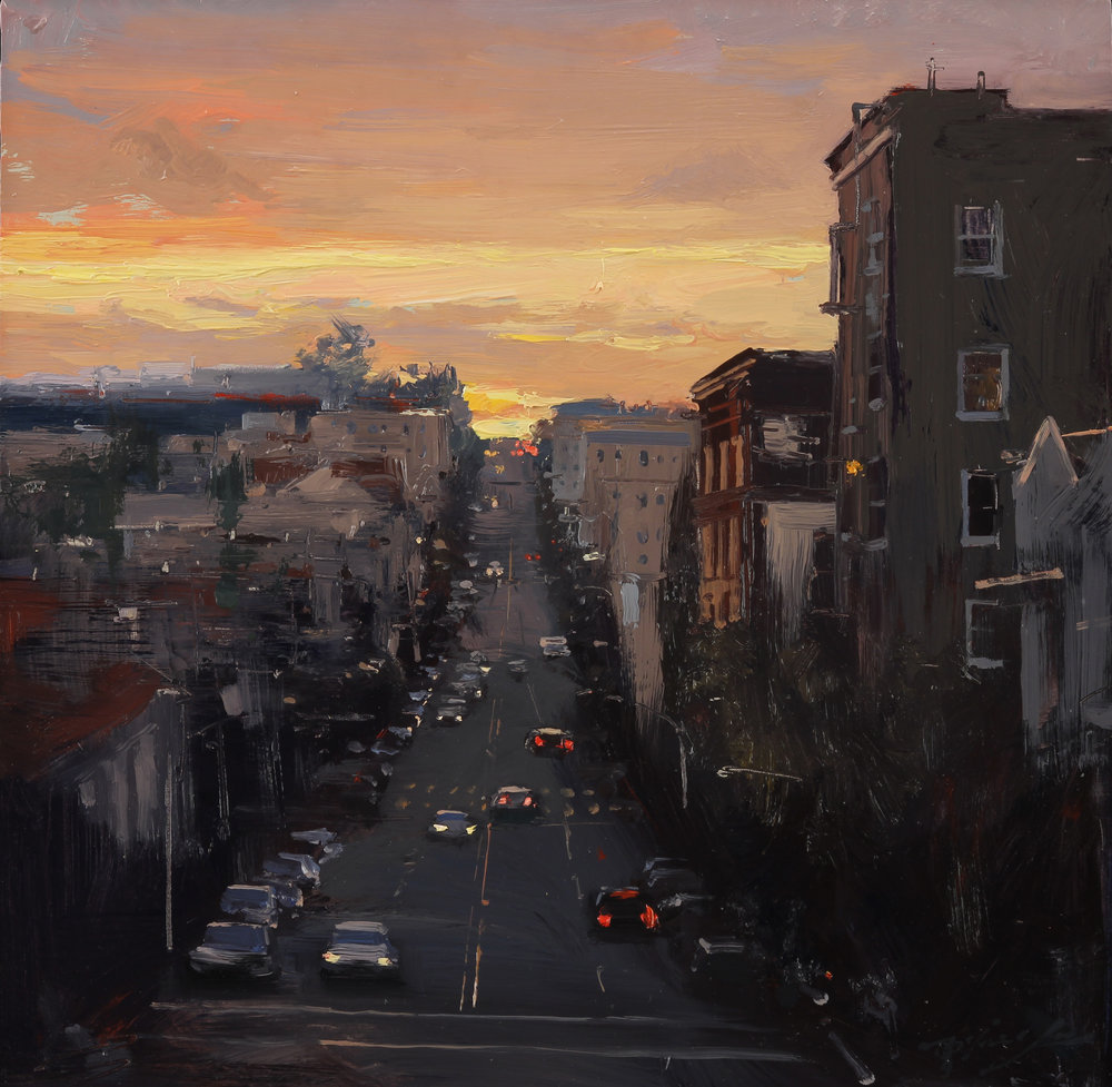 Sunset in California St.