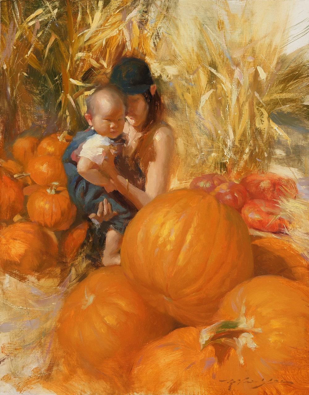 First Pumpkin Picking