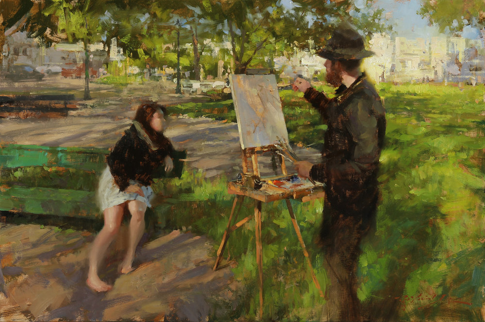 Beginning of Painting