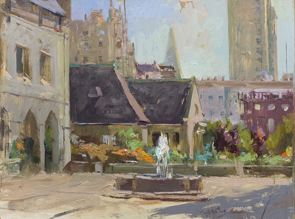 By the Grace Cathedral (Plein Air)