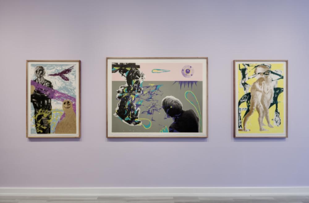 Et utvalg av hva du kan se hos QB Gallery under Grafikkmessen 2019: Sverre Bjertnes & Håkon Bleken, 2014, silketrykk ( 120 x 80 cm, 160 x 125 cm, 120 x 80 cm)