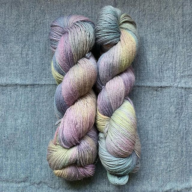 This magical yarn is going to make up my next shawl design.. @irish_artisan_yarn Donegal  I can't stop looking at it to admire how many subtle shades make up this colour way ❤️ #indiedyedyarn #indieyarndyers #indieknitdesigner #yarn #testknittersofinstagram