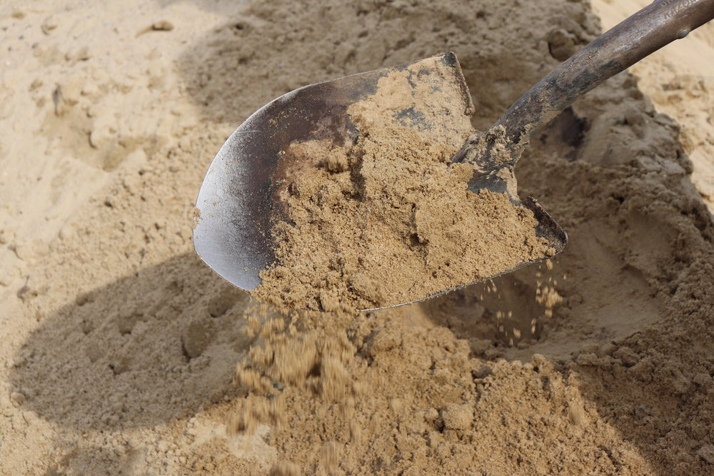 - Sand
