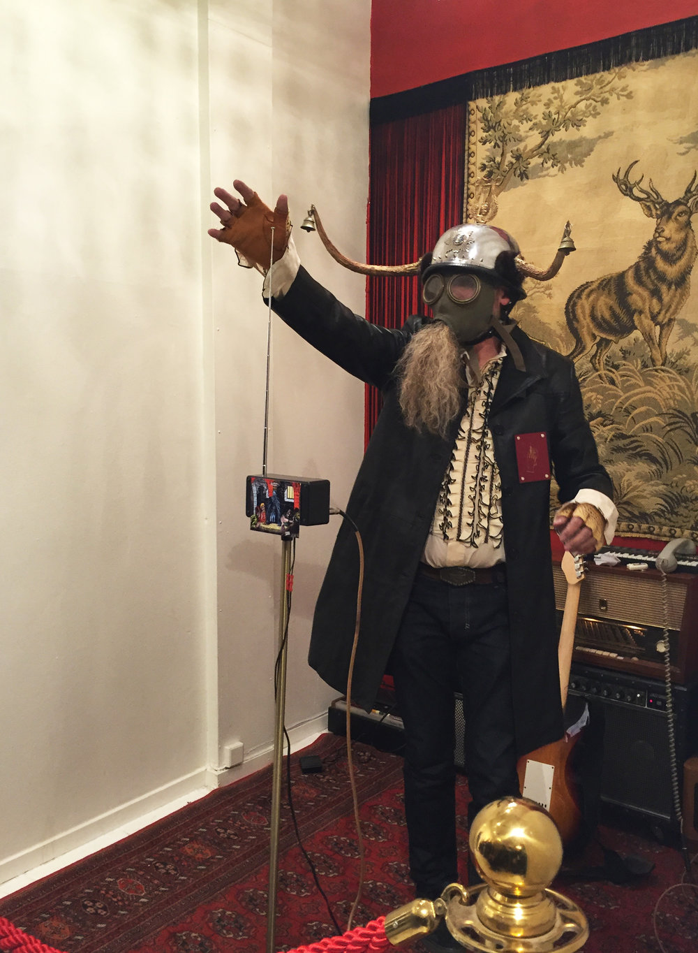 Count Pukebeard Live at Erik Axl Sund Gallery, Stockholm, 2016
