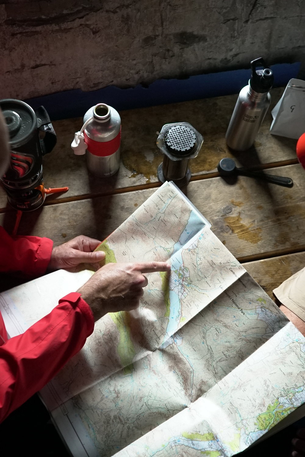 Map in Bothy.JPG