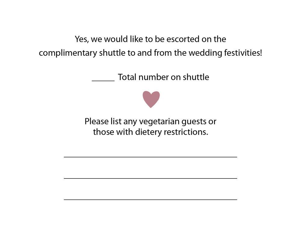 Response Card - Back