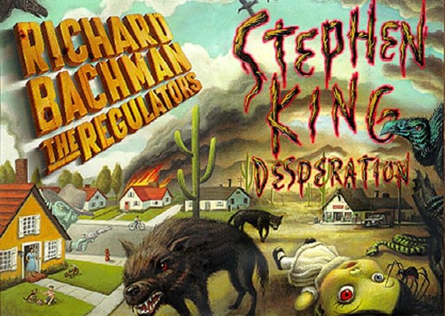 We discussed #bookcovers for this week's #episode, and this particular set by #stephenking and his #pseudonym #richardbachman were mentioned. What do you think of this set? . . #horror #novel #alternatereality #podcast #knoxrocks #author #authorsofig #authorsofinstagram #writerslife #writersofinstagram #writersofig #writer #southernfriedradio #aia #authorsinabstract #bookstagram #bookstagrammer #desperation #theregulators #tak
