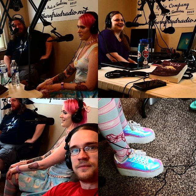 We take @caitybelleackeryandere #spelunking in our latest #characteradventure on #ep25 of #aia! . . #authorsinabstract #southernfriedradio #podcast #author #authorsofig #authorsofinstagram #writerslife #writersofinstagram #writersofig #writer #knoxrocks #rainbow #anime #cavedeath #jello #storytime #cosplay