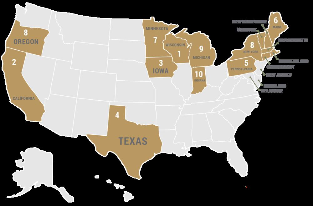 Top 10 Milk Goats States & Regions