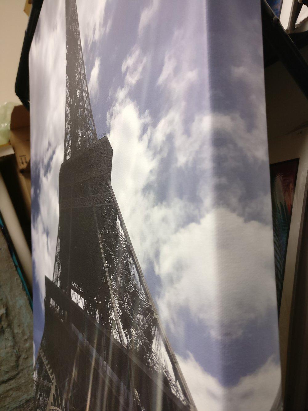 print on exhibition satin canvas, gallery wrap