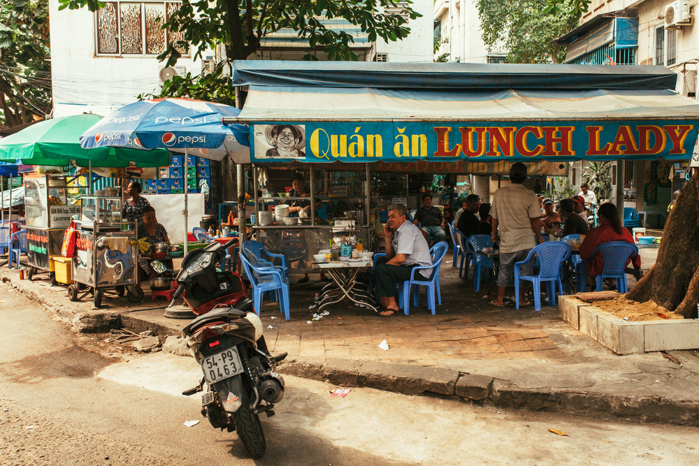 The Lunch Lady.  Location: 23 Hoang Sa St.| Phuong Da Kao, District 1, HCMC, Vietnam.