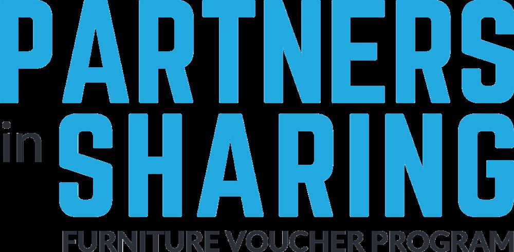 Partners in Sharing logotype - black