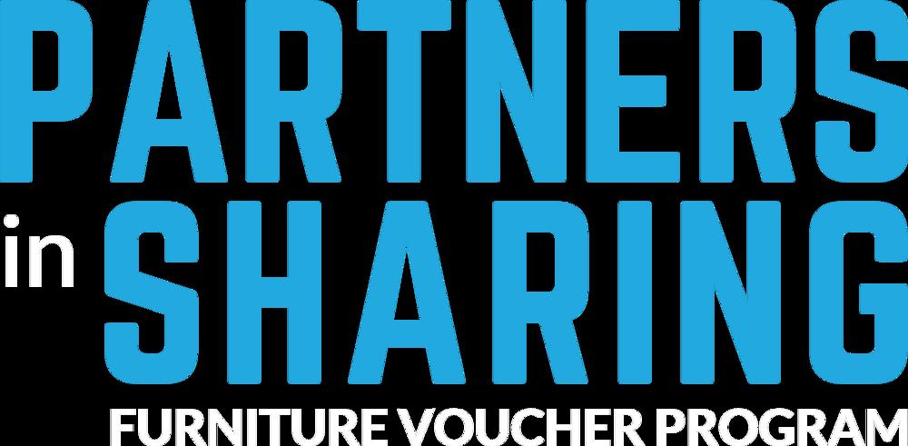 Partners in Sharing logotype - white
