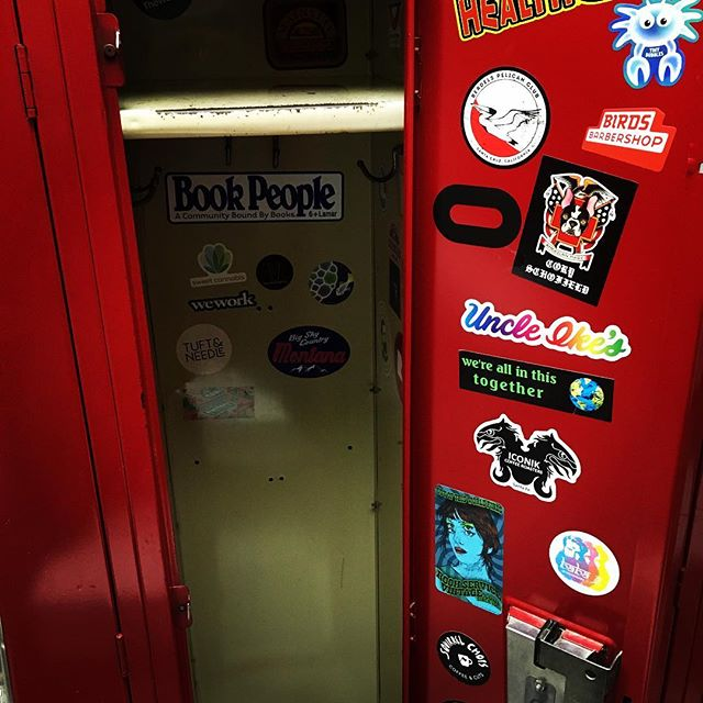 Delighted to find these inside the locker I chose - just because I liked the number - this morning at the #ymca . .  #surprise #stickers #goodmorning