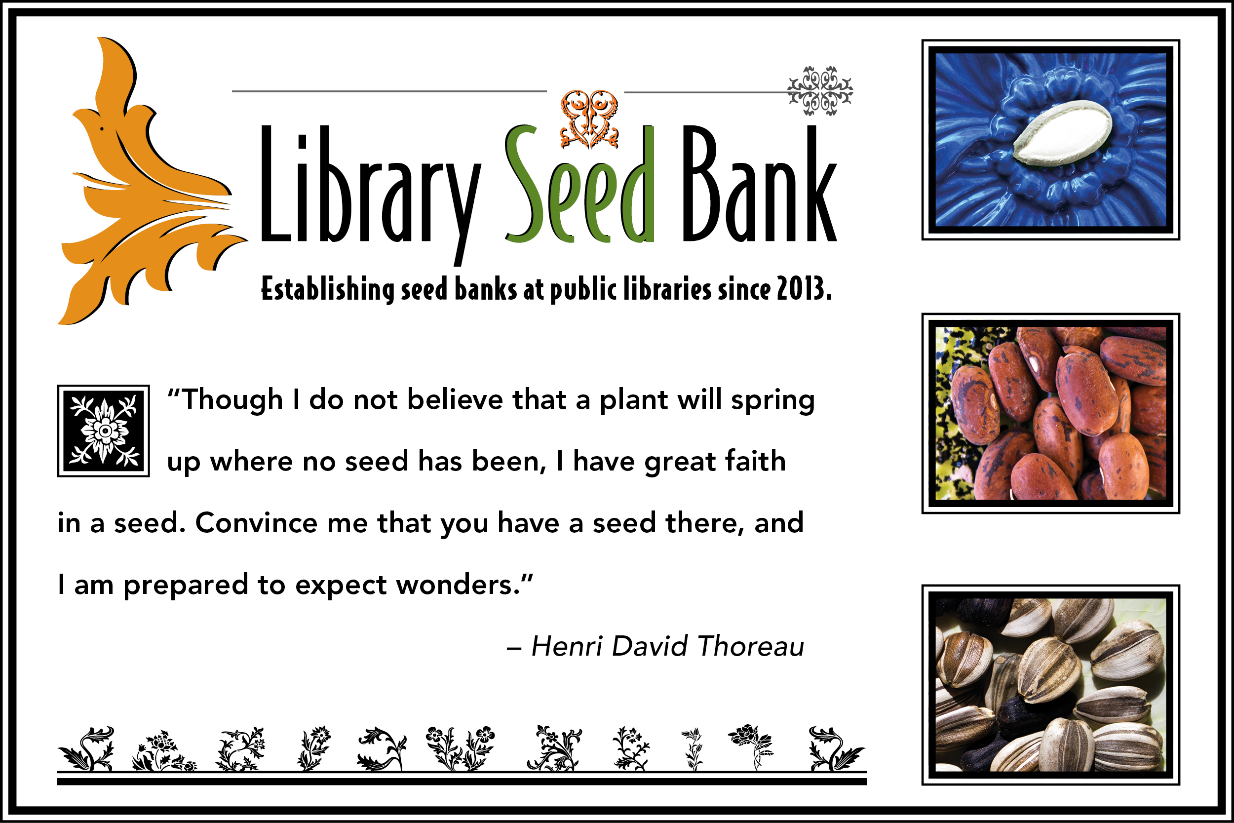 graphic for the Library Seed Bank project