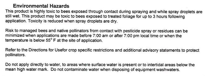 Screen Shot Notice of Pesticide Registration EPA Registration Number 62719-623