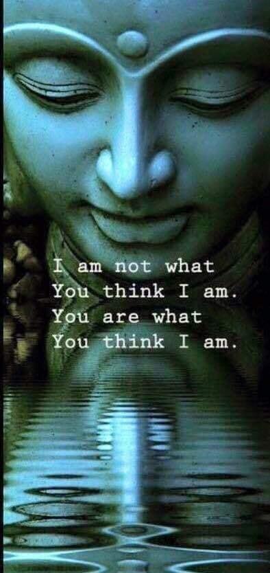 """""""Je ne suis pas ce que tu crois que je suis. Te es ce que tu crois que je suis"""".  """"No soy lo que crees que soy. Tu eres lo que crees que yo soy."""""""