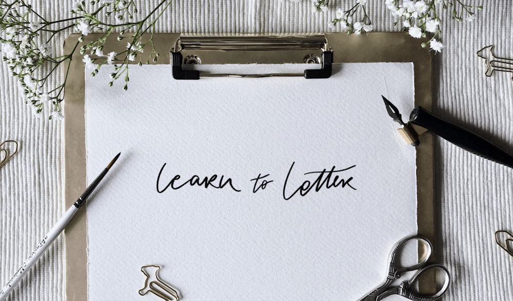 Learn to letter - Figuring out where to start as a beginner can be daunting, which is why I'm creating a hand lettering hub. Somewhere to house tutorials, practice sheets and resources aimed at all skill levels.