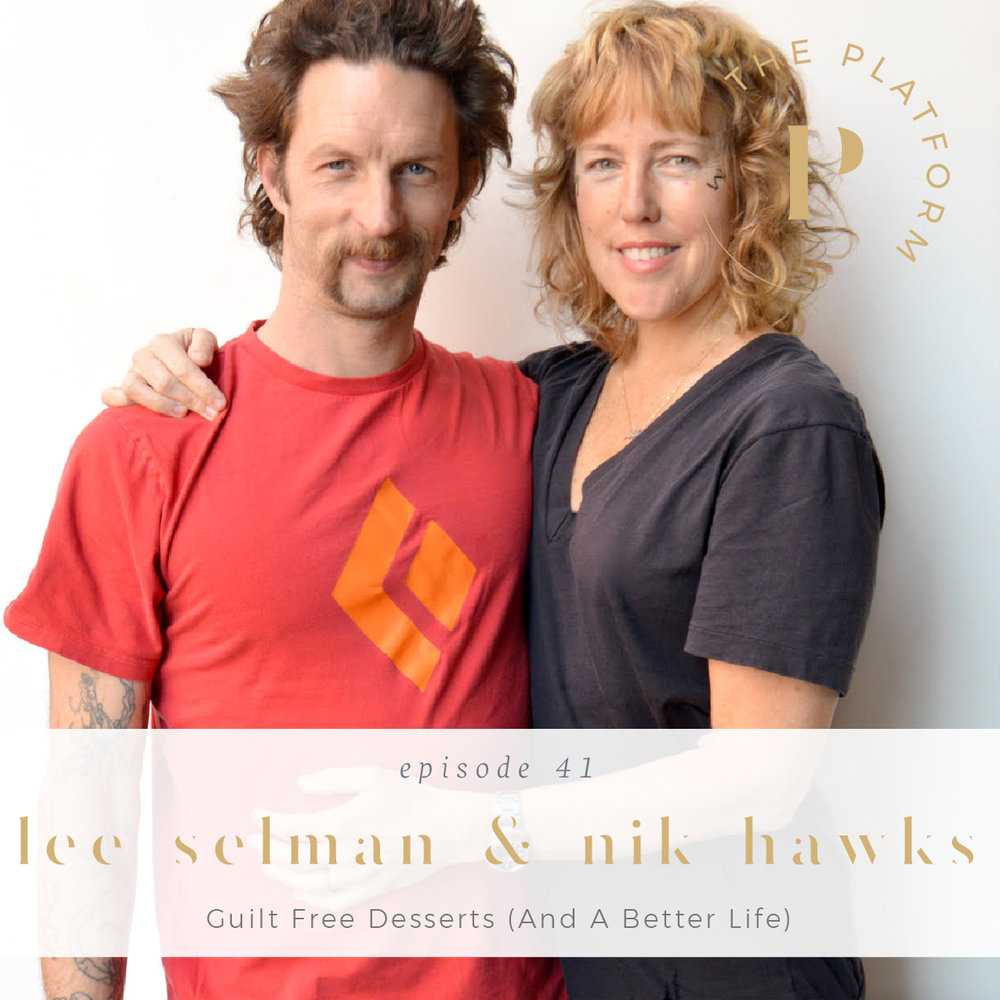 the platform podcast with kelli tennant; paleo-friendly desserts, paleo lifestyle, healing journey, health and wellness, healthy eats, healthy desserts, guilt-free desserts; lee selman and nik hawks of paleo treats