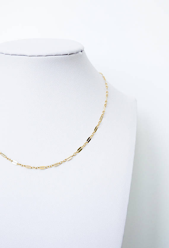 PS46 — Dainty Choker, 14K Gold Filled, Rose Gold Filled or Sterling Silver Lace Choker Necklace