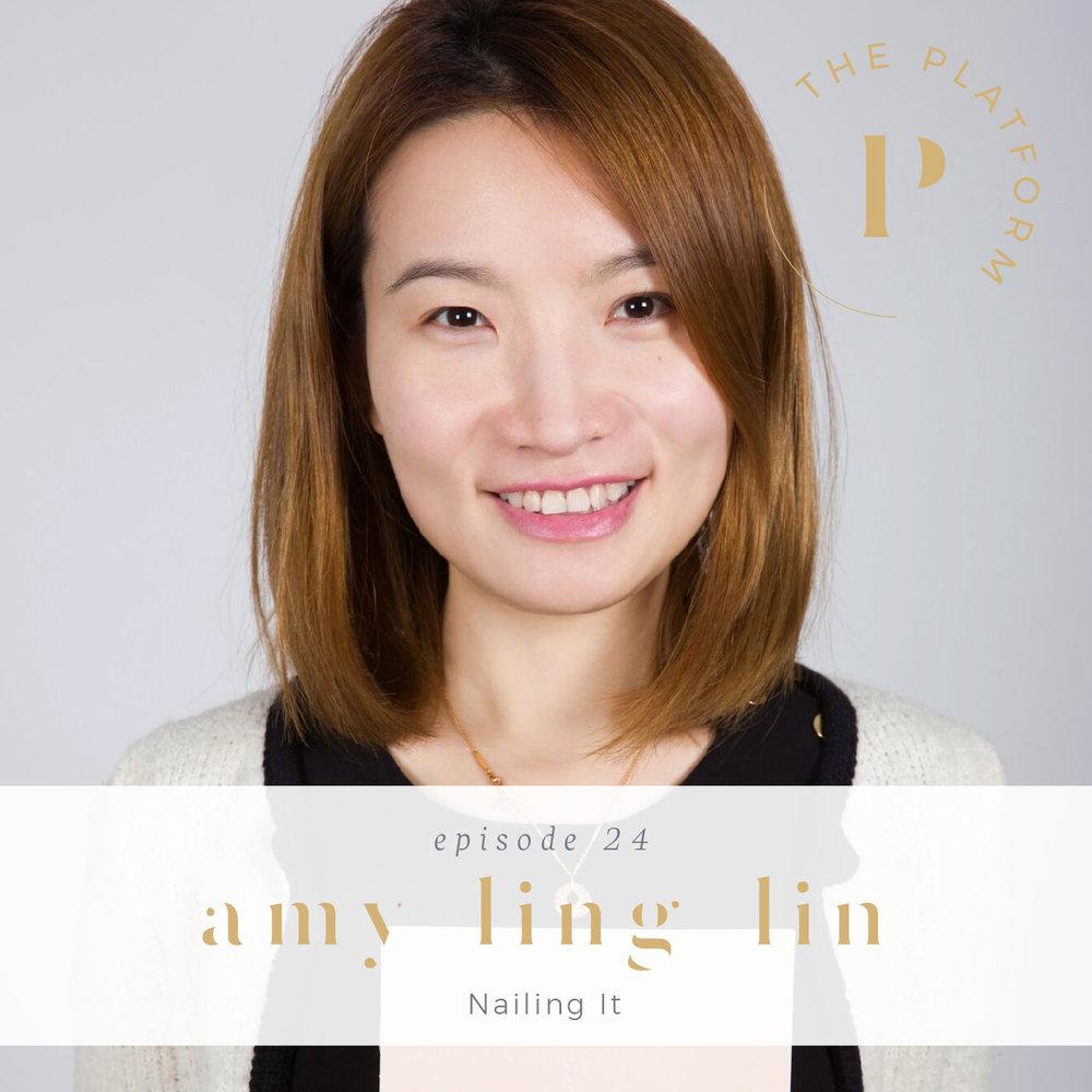 the platform podcast kelli tennant with amy ling lin, founder of sundays studio in new york city, non-toxic, 10-free, vegan nail polish salon, nailing it