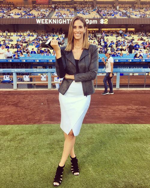 LA Dodger's reporter Kelli Tennant