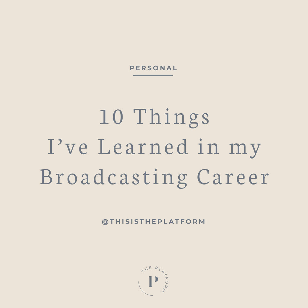 The Platform Podcast — 10 Things Kelli Tennant Learned in her Broadcasting Career, Sports, Sports News, Television, TV, Reporter, Announcer, Volleyball, USC, ESPN