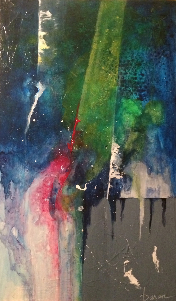 "Moonstruck   15 x 30"" acrylic on cradled board"