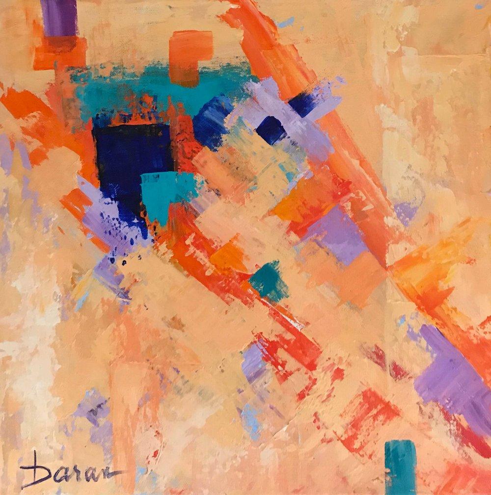 "Traffic Jam   16 x 16"" Acrylic on Canvas"