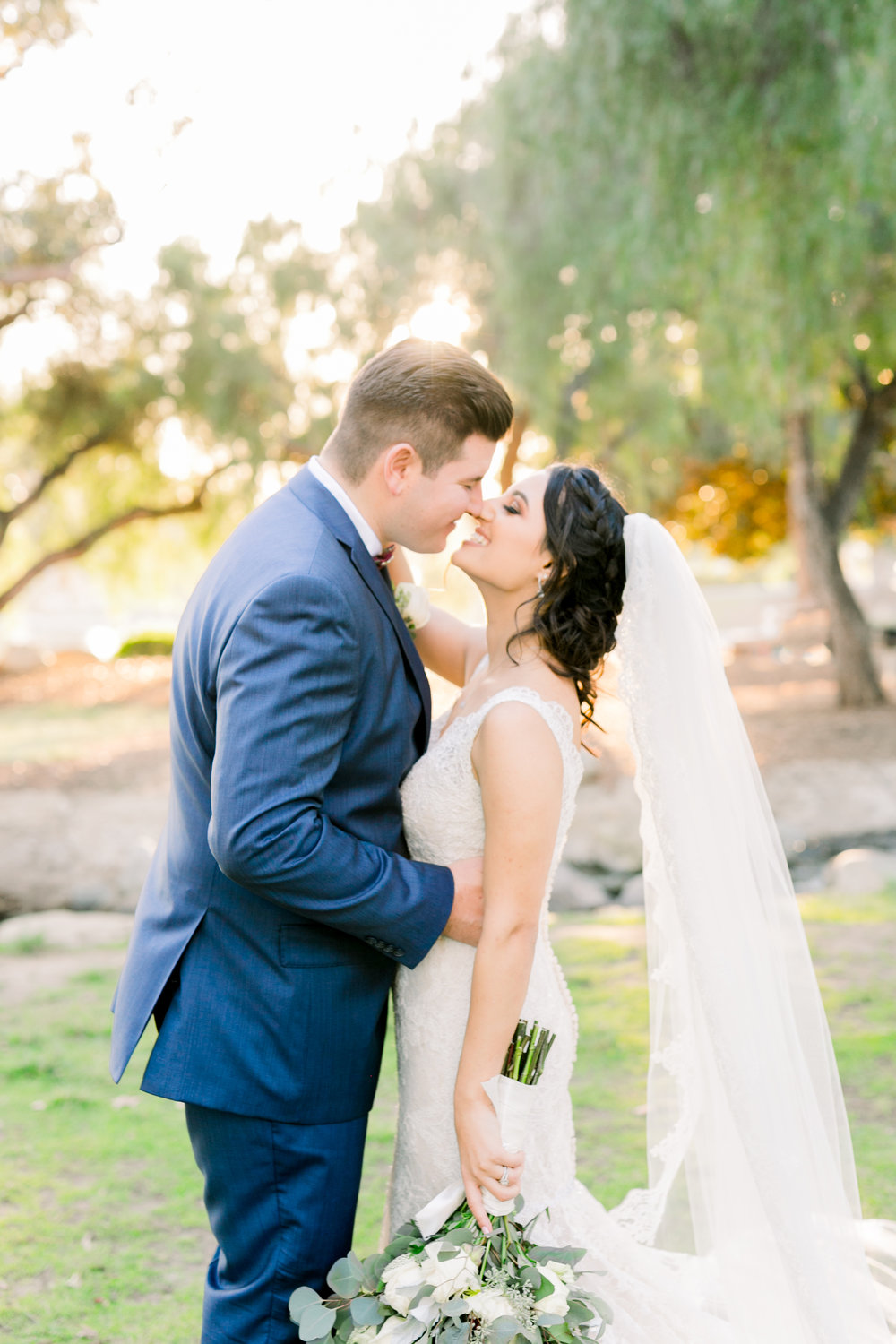 BRIDE & GROOM SUNSET ORANGE COUNTY CALIFORNIA WEDDING BY ABBIE MAE PHOTOGRAPHY