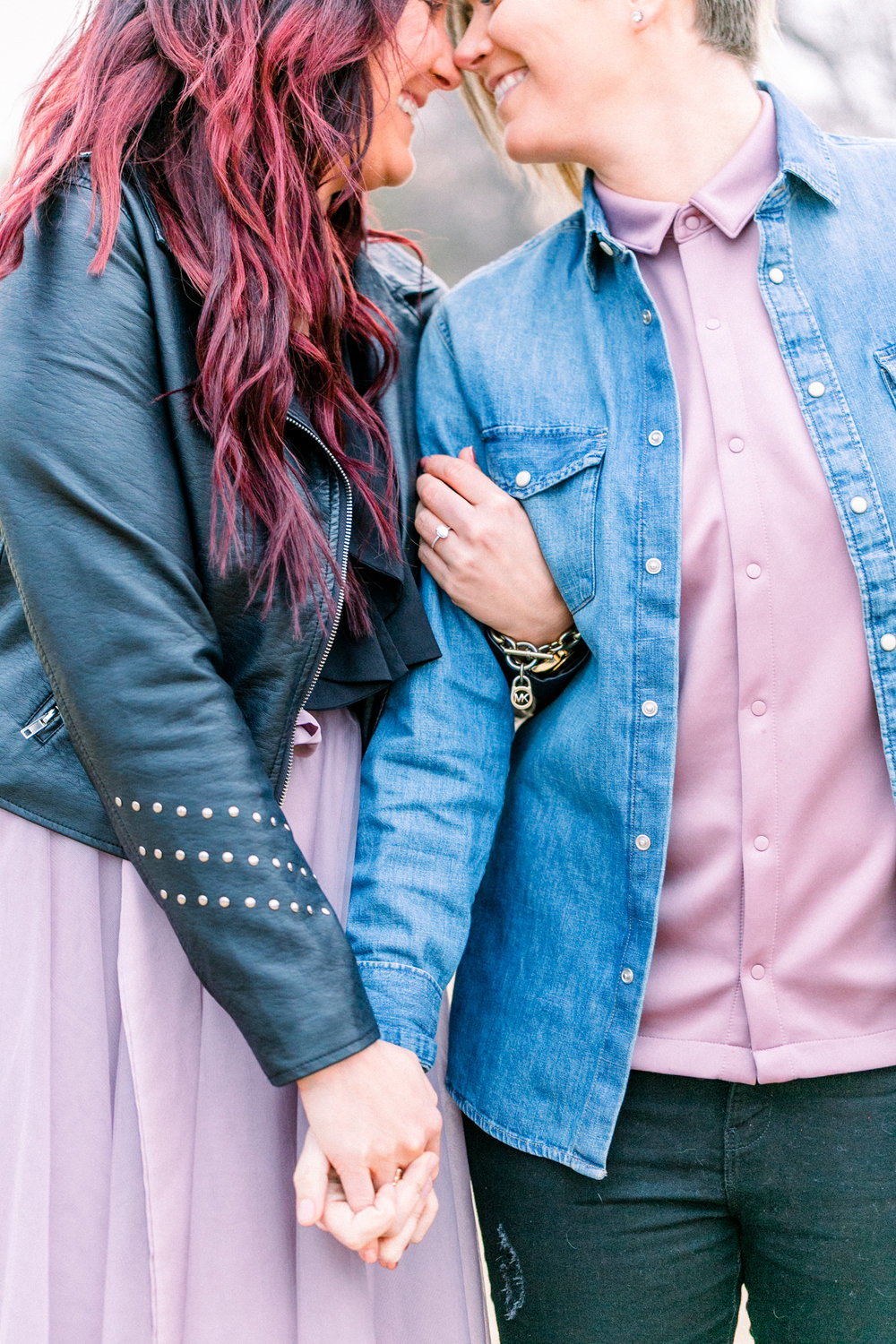 Dallas Lesbian Engagement Session