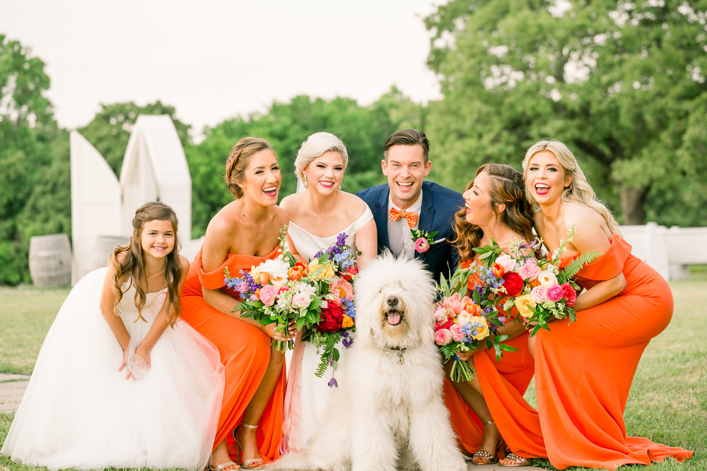 Colorful Wedding Party in Dallas Texas