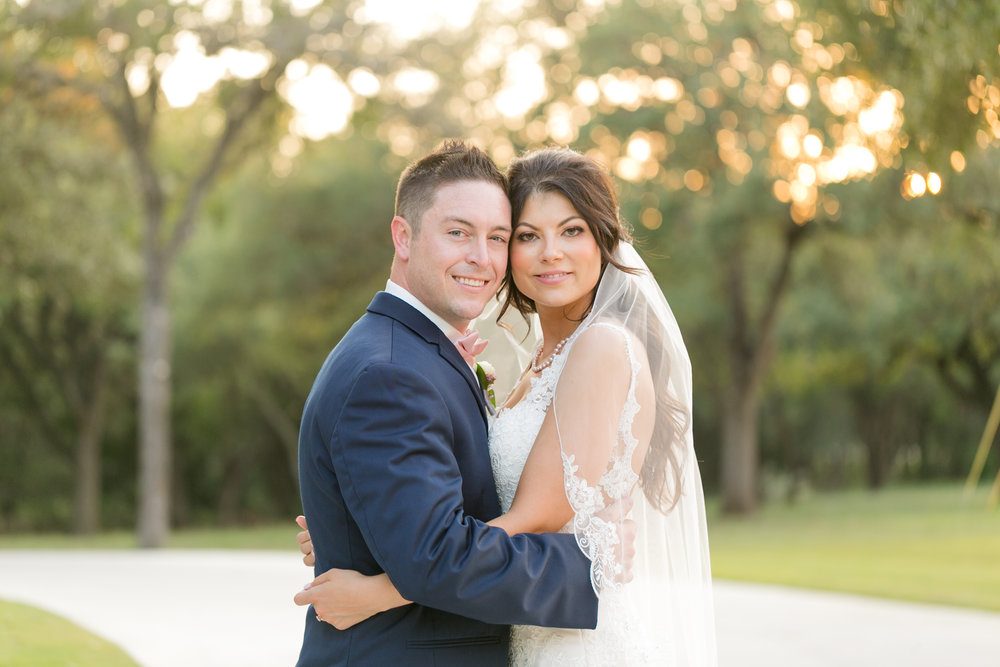 Chandelier of Gruene Wedding Couple Portrait