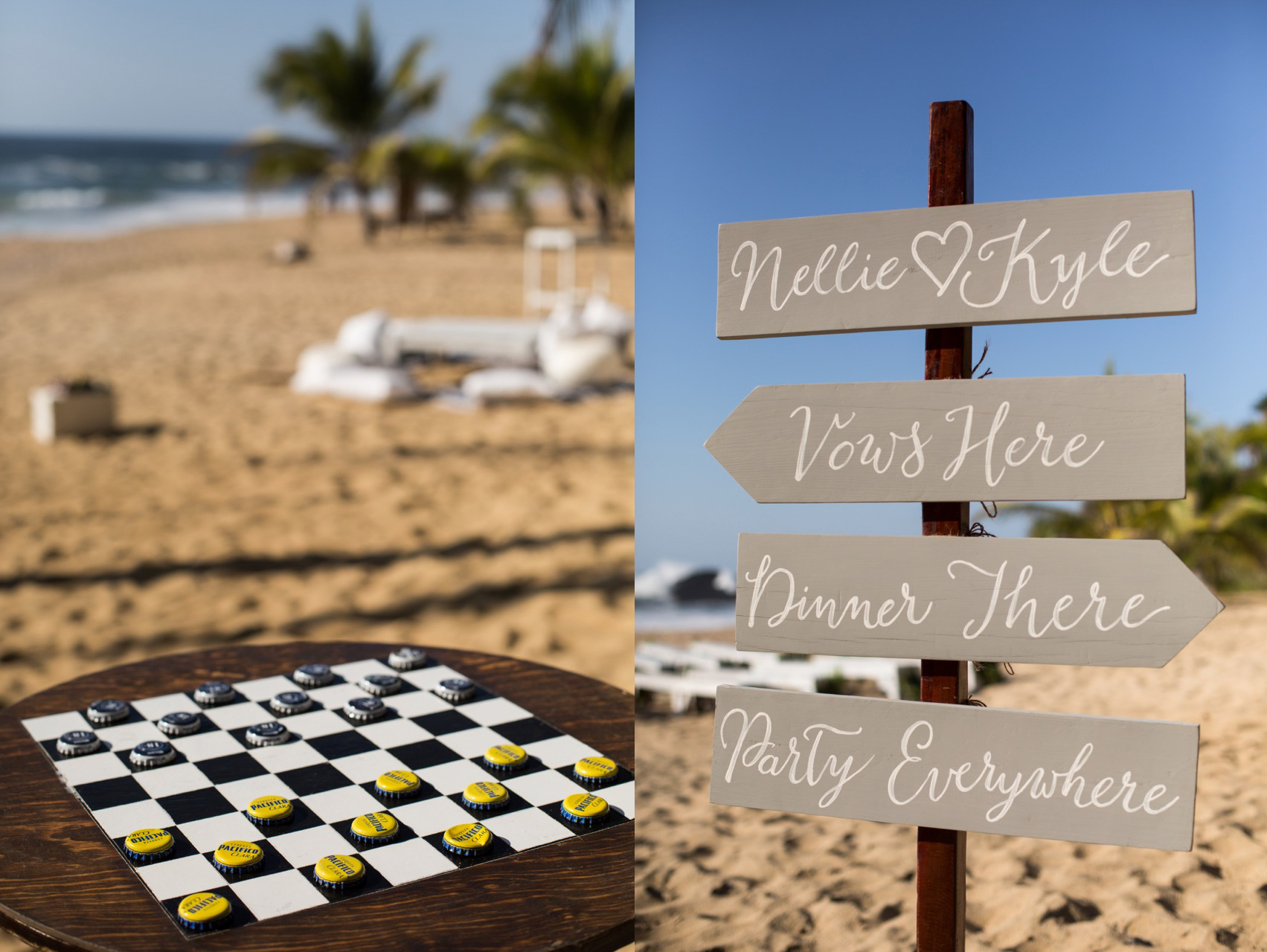 checkers + sign
