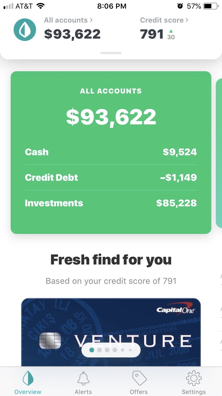 Mint account as of 04/18/2019.