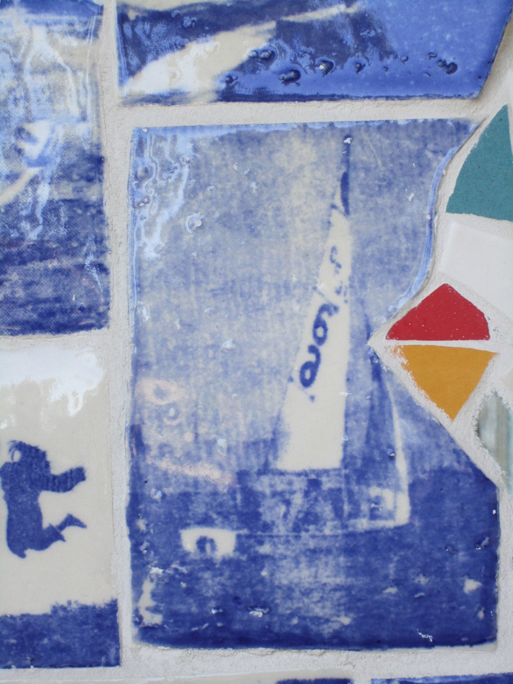 details of photo tiles on Student Activities mosaic