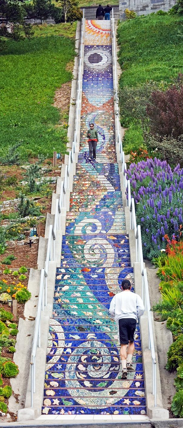 Aileen Barr tile steps in SF