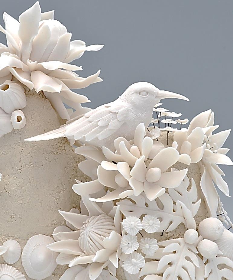 porcelain paper clay flowers and nature
