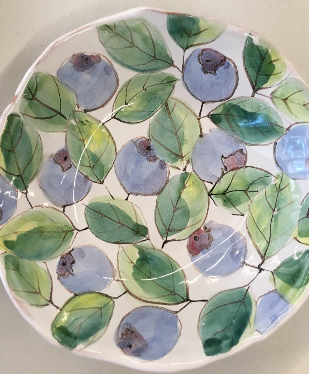Laurie Curtis' watercolor majolica technique