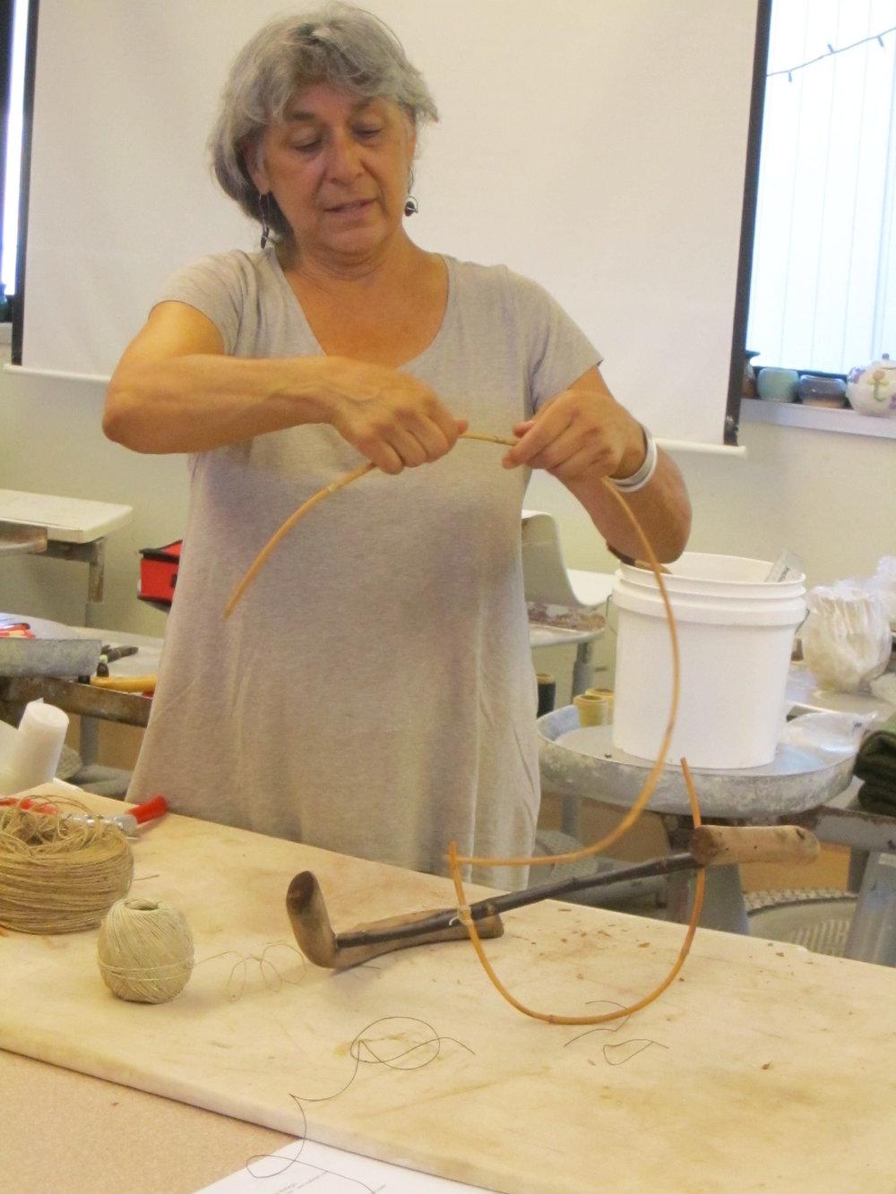 Jacqueline Malegni demonstrating