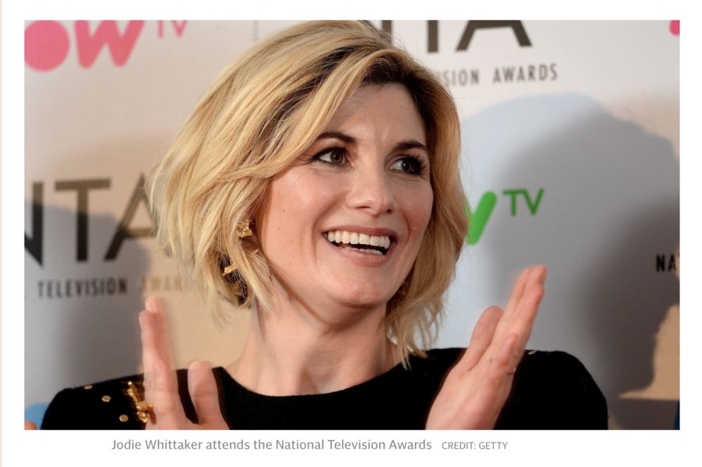 Jodie Whittaker at the National Television Awards 2018