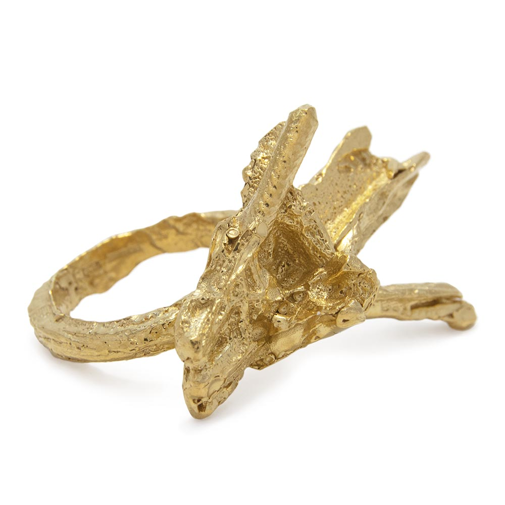 Loveness Lee Jigsaw Gold Ring