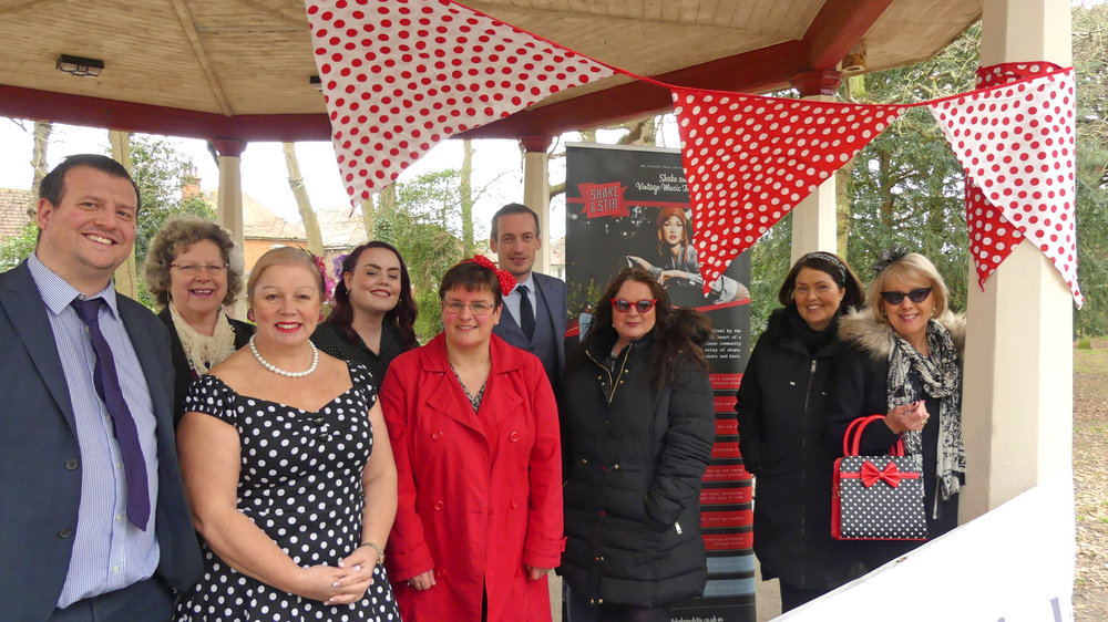 Humphries Kirk sponsors the bandstand - At Shake and Stir Vintage Festival 2019