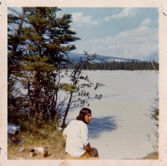 Nancy-Thorne-Hitchhiking-Alberta-Lake