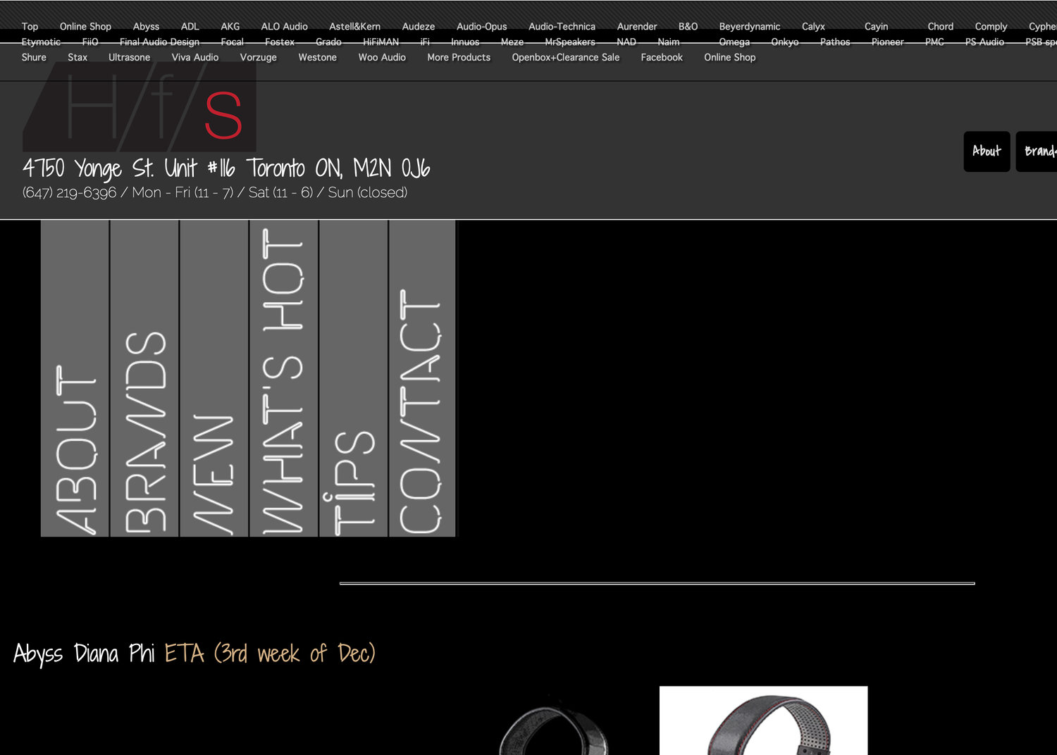OUT WITH THE OLD, LAYOUT OF HEADFONESHOP'S NEW WEBSITE